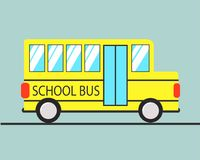 School Bus vector in flat style vector illustration