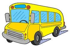 School bus vector illustration. Yellow school bus - vector illustration Royalty Free Stock Photos
