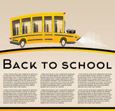 School Bus. Vector Illustration. Royalty Free Stock Images