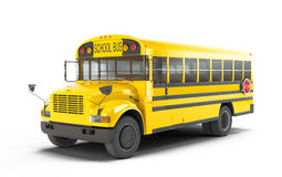 School Bus. On white background Royalty Free Stock Photos
