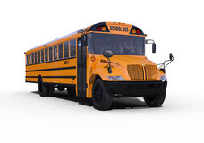 School Bus. On white background royalty free stock photo