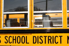 School Bus Windows Stock Image
