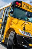 School Bus. Yellow big School bus ready to pick up and  transport kids / children / school age people Royalty Free Stock Photos