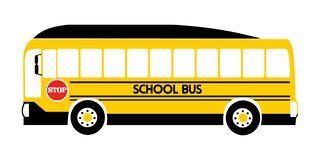 School bus yellow illustration vector stock illustration