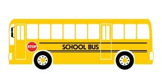 School bus yellow illustration vector royalty free illustration