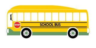 School bus yellow illustration vector stock illustration