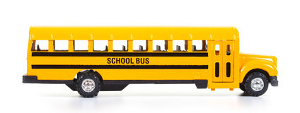 School bus. Yellow school bus, isolated on white background Stock Images