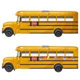 School bus. Yellow School bus over white Stock Images