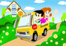 School bus02 Royalty Free Stock Images