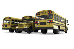 School buses Stock Images
