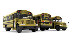 School buses vector illustration