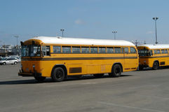School-buses. Two school-buses at Venice Beach, L.A., California, U.S.A stock image