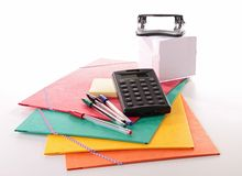School or business accessories Stock Photos
