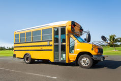 School buss standing on the parking Stock Photos