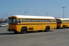 School-bussen stock afbeelding