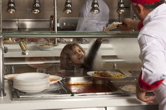 School cafeteria Stock Images