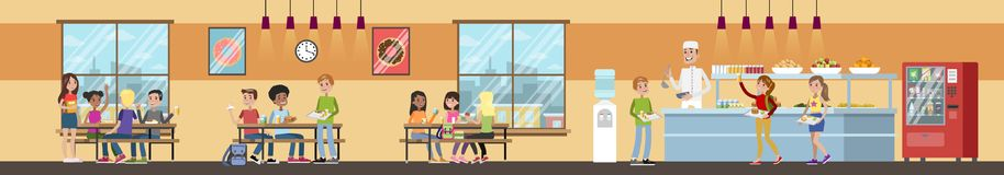 School cafeteria interior