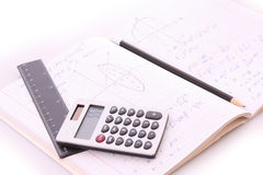 School calculations Royalty Free Stock Images