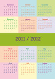 School calendar. Colorful school calendar on new year school from 2011 to 2012 year royalty free illustration