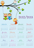 School calendar. Colorful school calendar on new year school from 2012 to 2013 year vector illustration