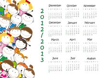 School calendar. Colorful school calendar on new year school from 2012 to 2013 year royalty free illustration