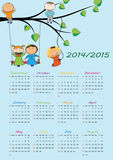 School calendar 2014/2015. Colorful school calendar on new year school from 2014 to 2015 year Stock Illustration