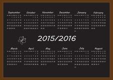 School calendar Stock Images