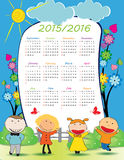 School calendar Royalty Free Stock Images