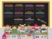 School calendar 2015.2016 Royalty Free Stock Photography