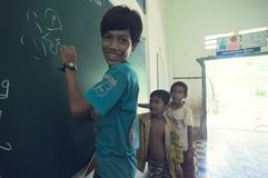 School in Cambodia royalty free stock images