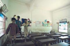 School in Cambodia stock photo