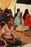 School camp for African refugees on the outskirts of Hargeisa Stock Photos