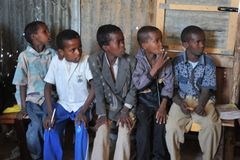 School camp for African refugees on the outskirts of Hargeisa Stock Photography