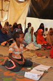 School camp for African refugees on the outskirts of Hargeisa Royalty Free Stock Images