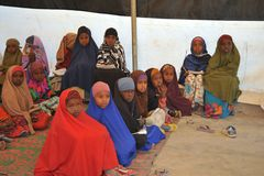 School camp for African refugees on the outskirts of Hargeisa Royalty Free Stock Photos