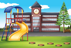 School campus with playground Royalty Free Stock Photography