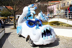 School Carnival car float Stock Photo