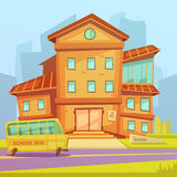 School Cartoon Background Royalty Free Stock Photography