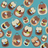 Backpack Pattern  Stock Images