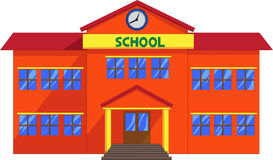 School cartoon. Vector illustration of school cartoon isolated on white Stock Photography