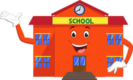 School cartoon waving Royalty Free Stock Image