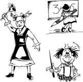 School cartoons Stock Photography