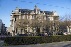 School in a castle. This is a middle school in Antwerp. As you can see it is located in a middle aged castle royalty free stock photography