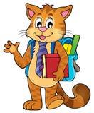 School cat theme image 1 Royalty Free Stock Photos