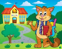 School cat theme image 2 Royalty Free Stock Image