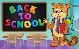 School cat theme image 3 Royalty Free Stock Photos