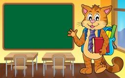 School cat theme image 4 Royalty Free Stock Photos