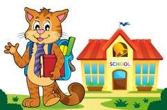 School cat theme image 5 Royalty Free Stock Photos
