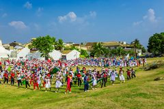 School celebration in fort Galle Stock Image