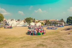 School celebration in fort Galle Stock Images